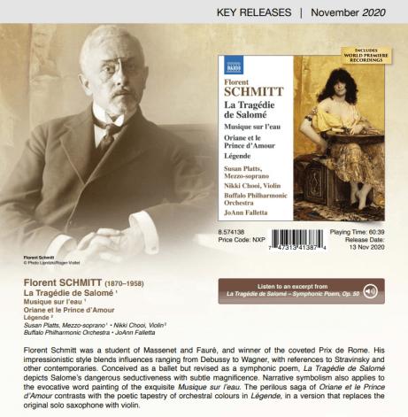 Florent Schmitt Falletta Buffalo Philharmonic NAXOS 2020
