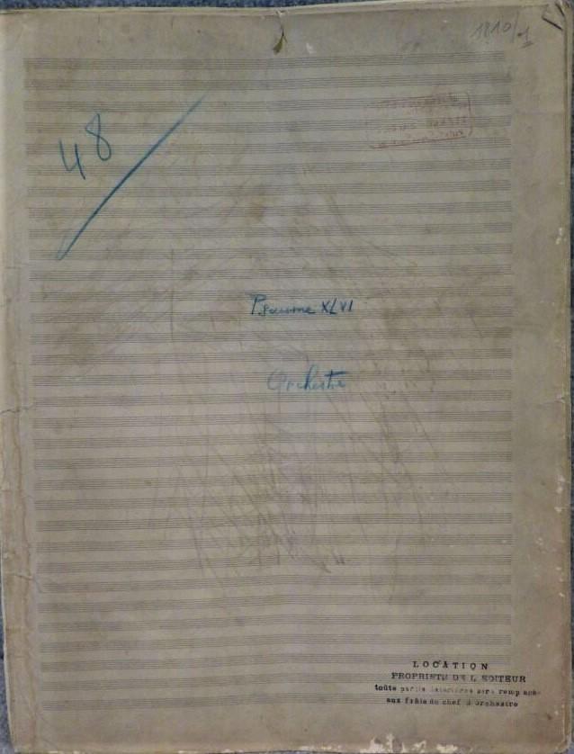 Florent Schmitt Psalm 47 manuscript cover