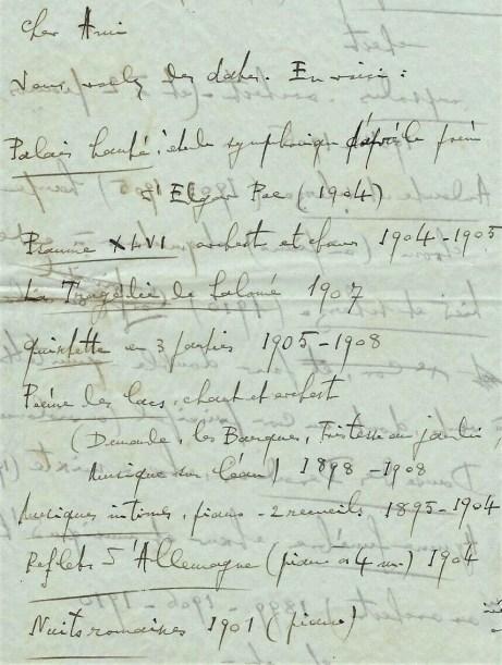 Florent Schmitt letter
