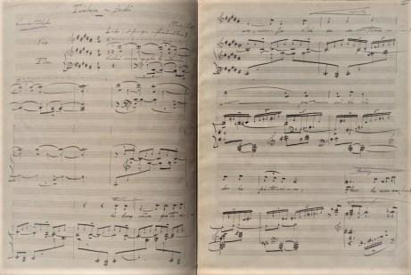 Florent Schmitt Tristesse au jardin manuscript pages