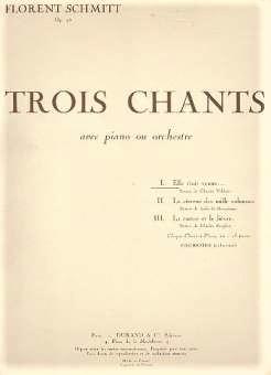 Florent Schmitt Trois chants score cover