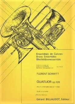 Florent Schmitt Quartet for Trombones/Tuba score cover