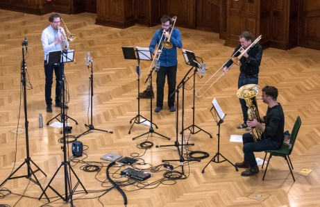 Jena Philharmonic low brass recording session