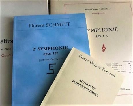 Music Scores by Pierre-Octave Ferroud and Florent Schmitt
