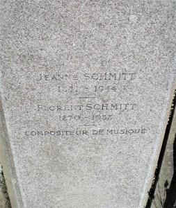 Florent Schmitt gravestone inscription Bagneux 2021