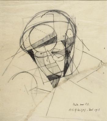 Florent Schmitt Study for Portrait of Florent Schmitt