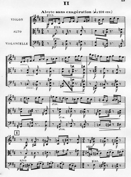 Florent Schmitt Trio a cordes score Movement 2
