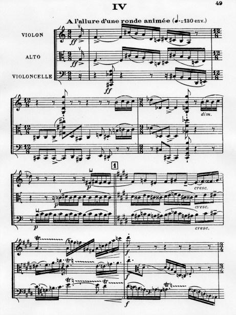 Florent Schmitt Trio a cordes score Movement 4