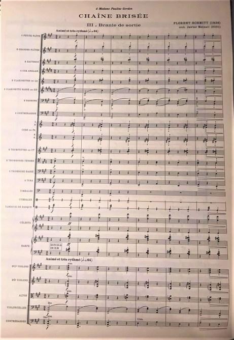 Florent Schmitt Branle de sortie Jawher Matmati score page
