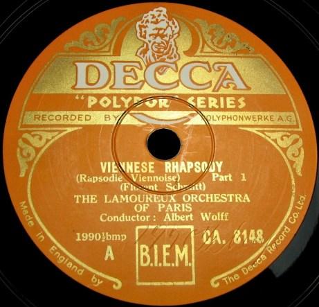 Florent Schmitt Rapsodie viennoise Wolff Decca
