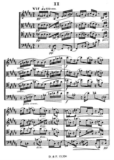 Florent Schmitt Saxophone Quartet score page II vif