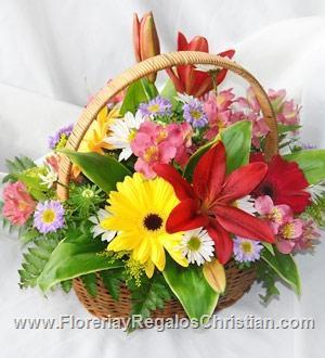 P8 - Canasta de flores primaverales