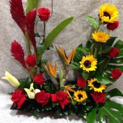 Arreglo de Aniversario, con rosas y ginger - AN10