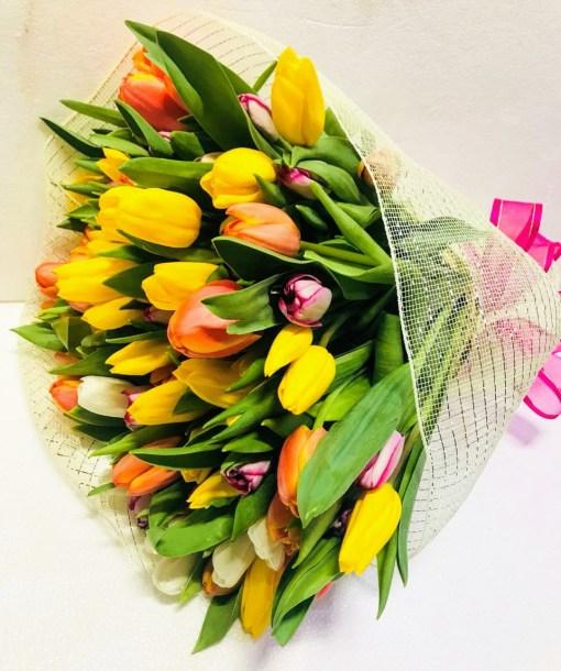 Bouquet de 100 Tulipanes