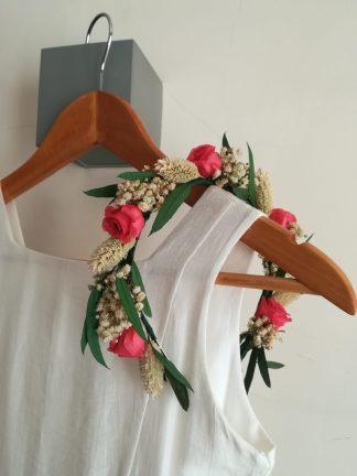diadema rosas preservadas