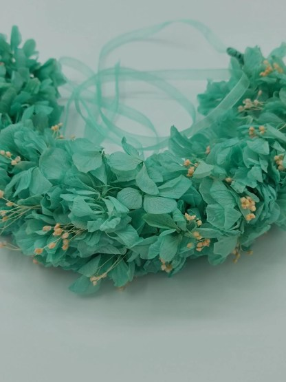 corona flores preservadas