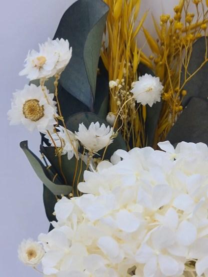 ramo hortensia blanca