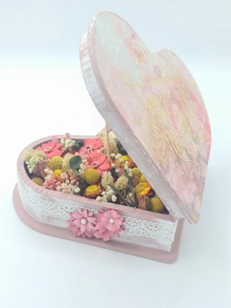 corazon flores preservadas