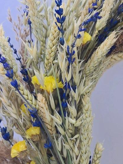 corona flores secas