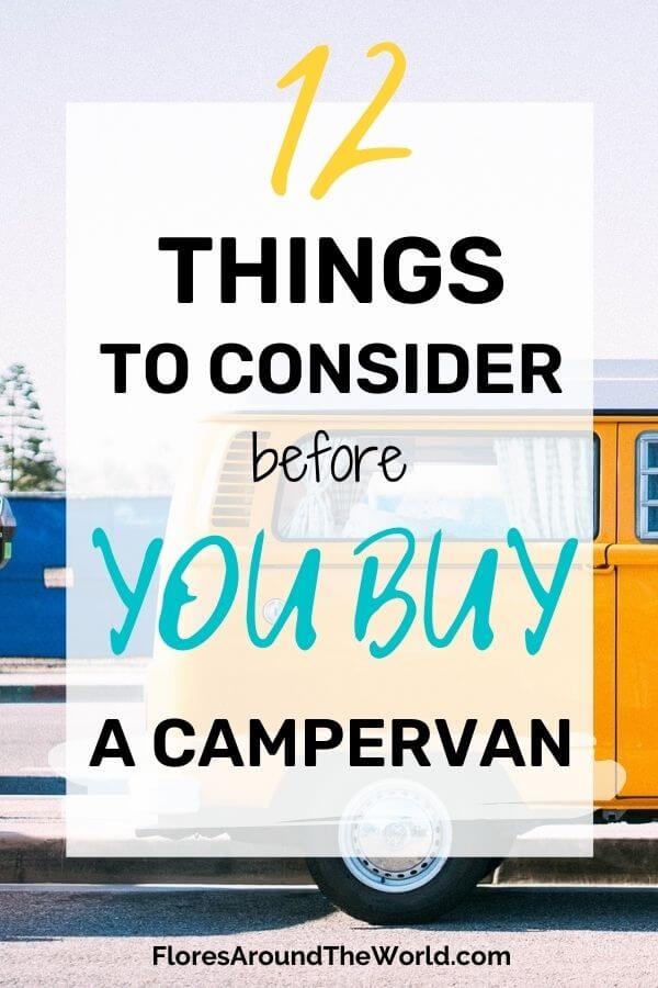 Things to Consider Before You Buy a Camper Van