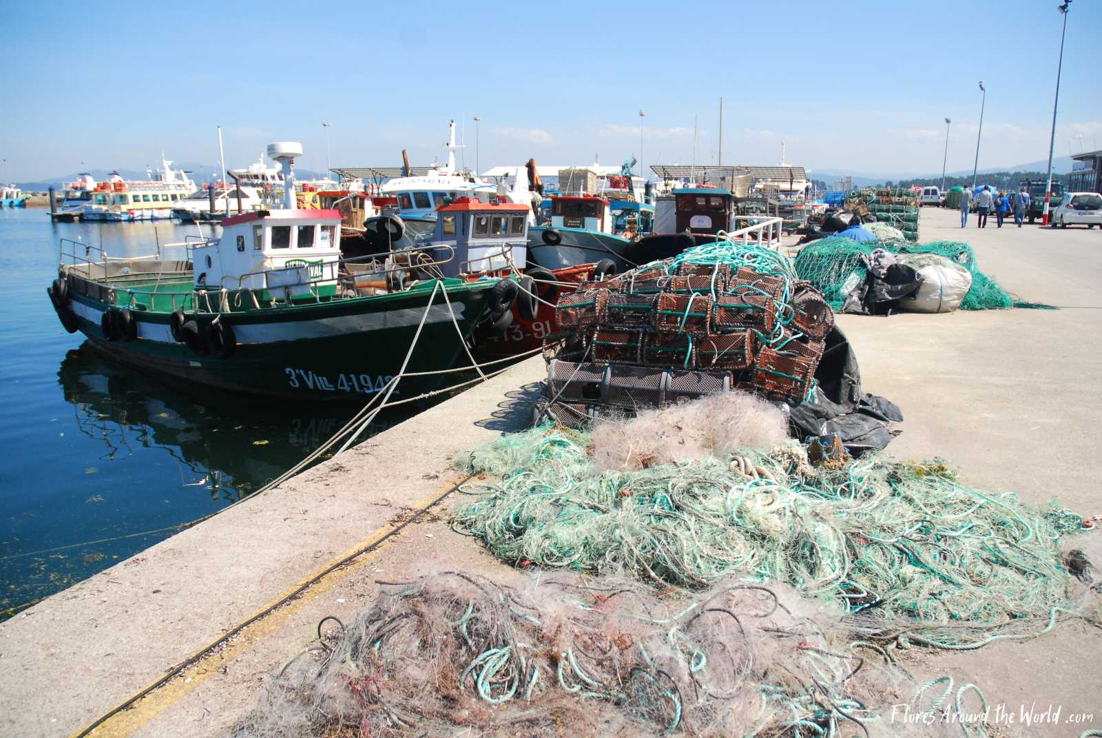 Northern Spain, Galicia: fishing village O Grove