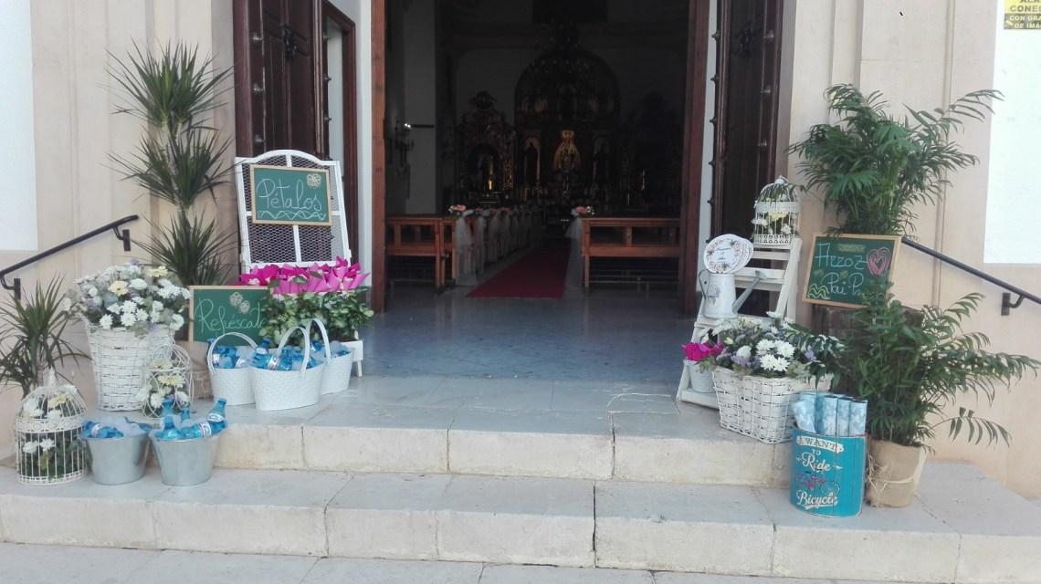 Detalles de boda. Flores del Patio
