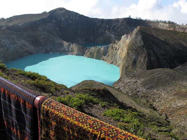 Kelimutu tri colour lakes