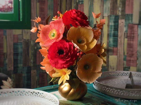 centro de mesa flores primaverales