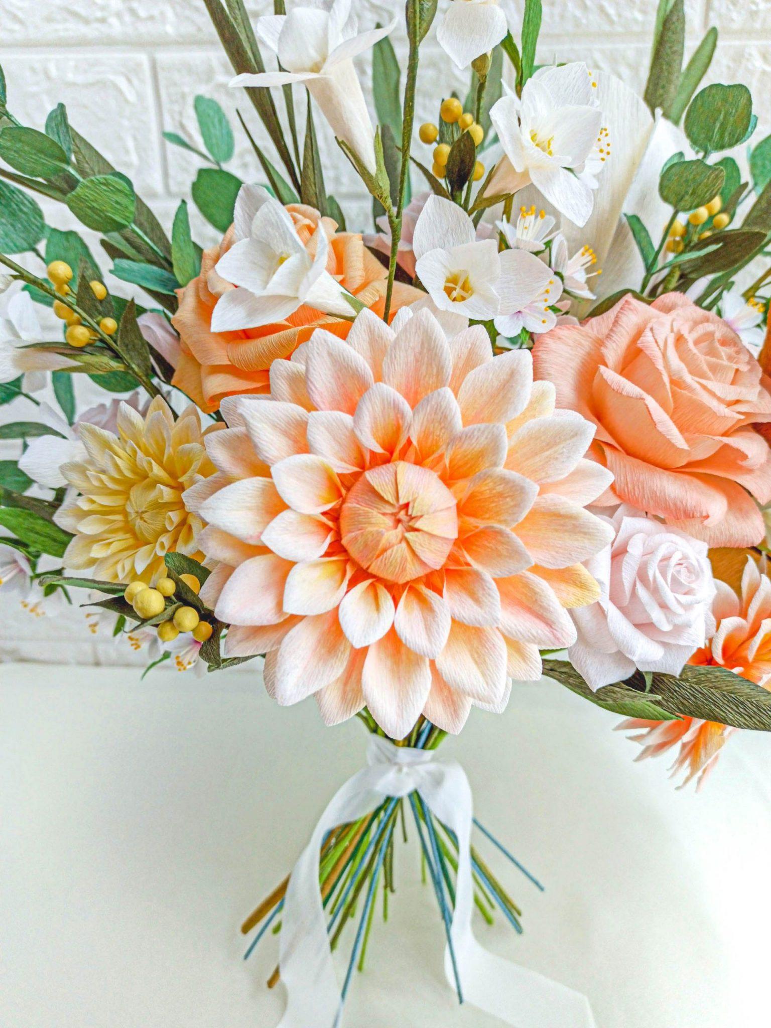 comprar ramo de novia de papel