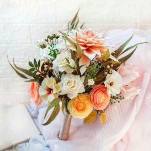 ramos de novia de papel