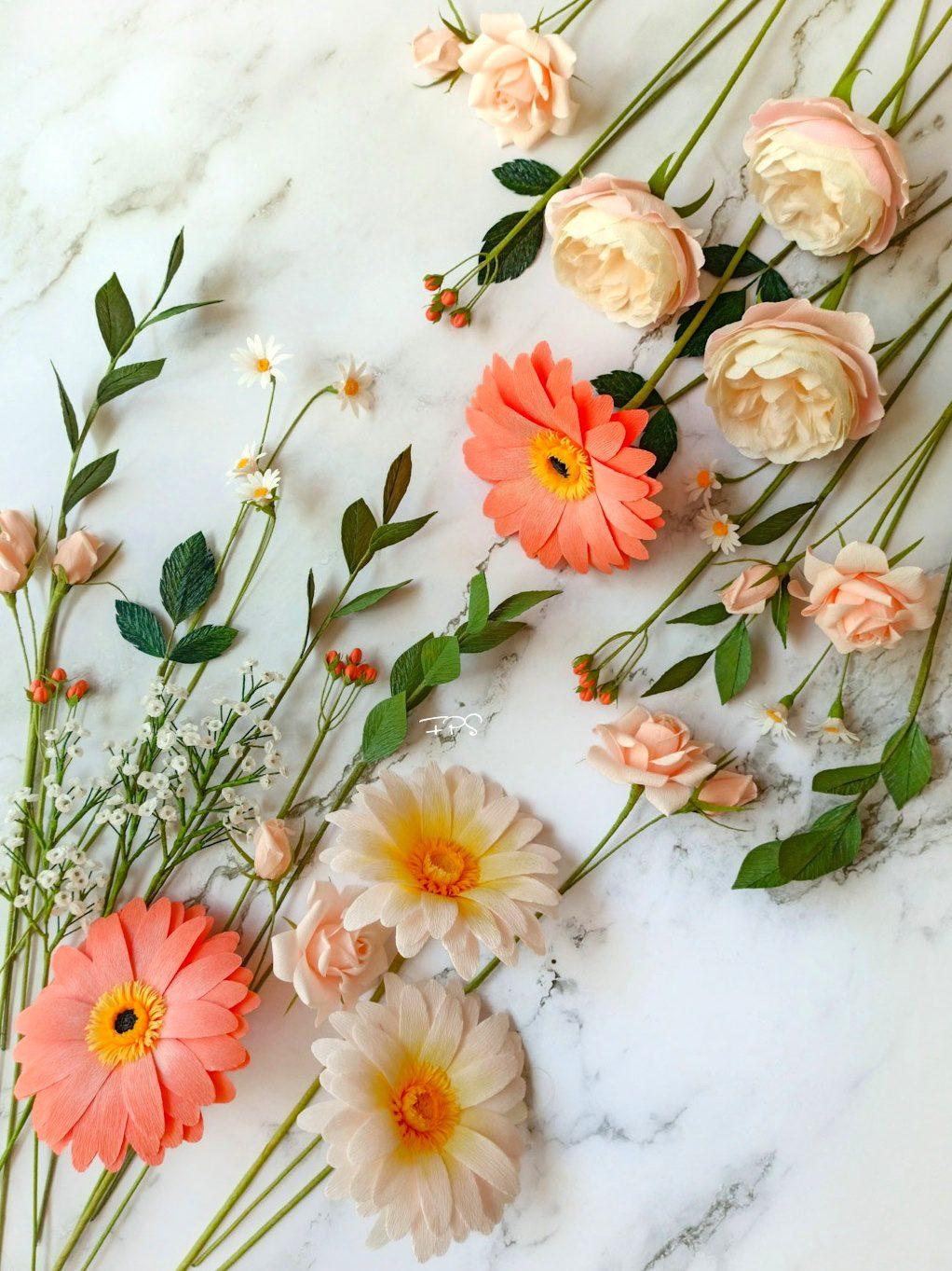 flores de papel crepe, flores para siempre