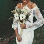 ramo de novia de tallo largo