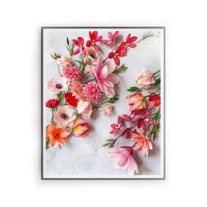 impresiones digitales descargables flores, flores para siempre, flores de papel crepe