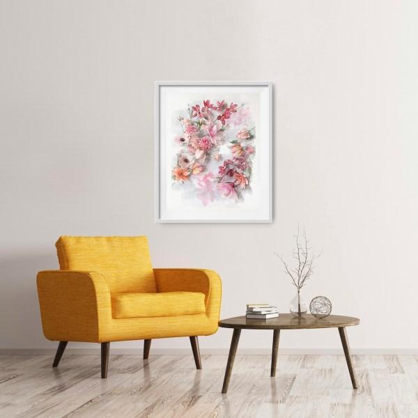 imprimible floral de acuarela, flores para siempre, flores de papel crepe