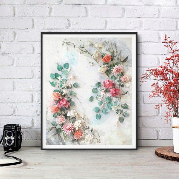 archivo floral descargable, flores para siempre, flores de papel crepé