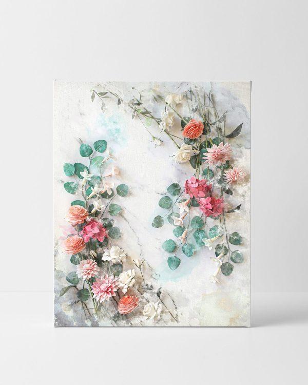 archivo digital estilo acuarela para descarga e impresión, flores para siempre, flores de papel crepé