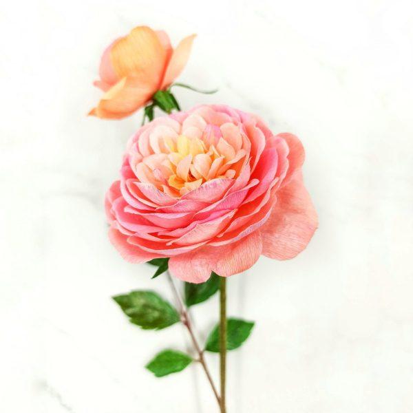 flores para siempre, rosas de papel, flores para siempre, flores de papel crepe