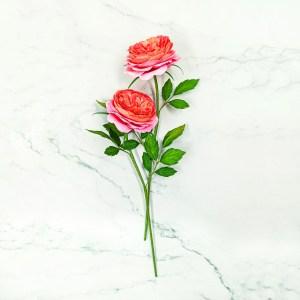 Rosas de jardín de papel, rosas hechas a mano, ramo de rosas de jardín, rosas de papel crepé, ramo realista de papel, flores de papel