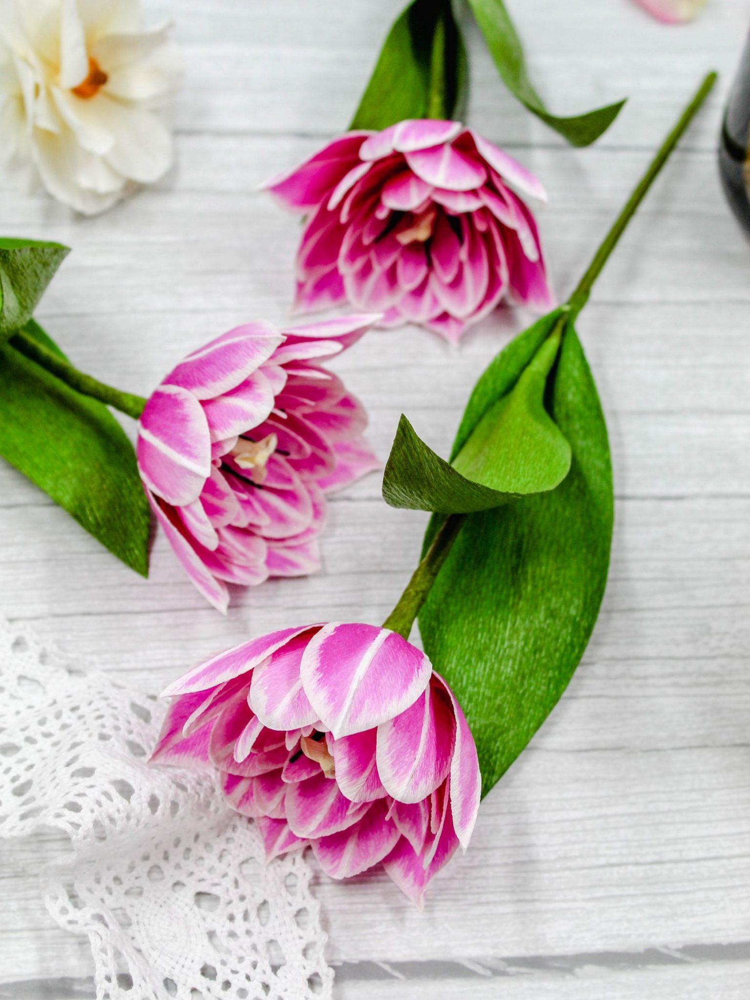 Flores de cerezo de papel crepé, flores para siempre, diseño floral en papel, diseño botánico en papel
