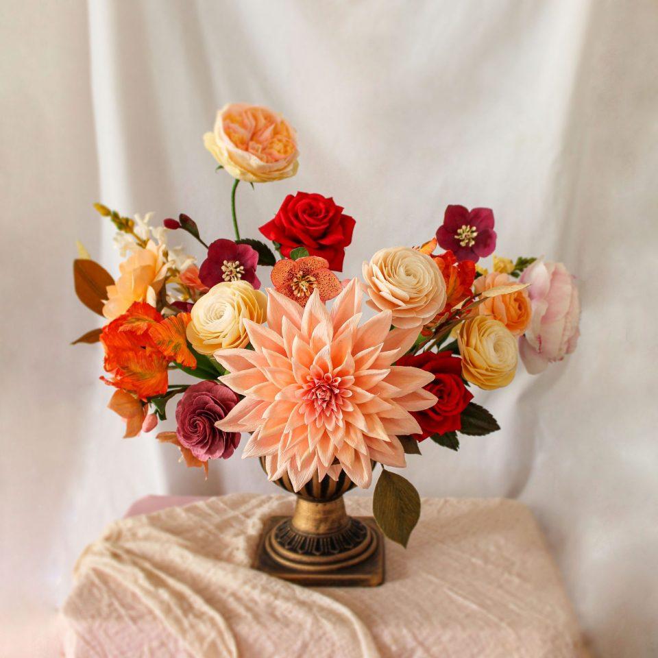 centro-flores-papel-crepe-flores-para-siempre