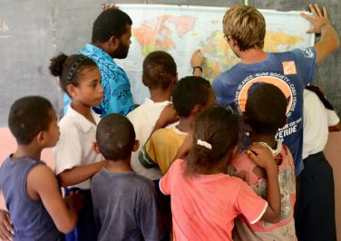 Île Ono (Fidji) - À l'école du village