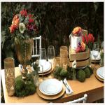flores mesa enlace matrimonial