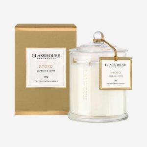 glasshouse candle kyoto camellia lotus