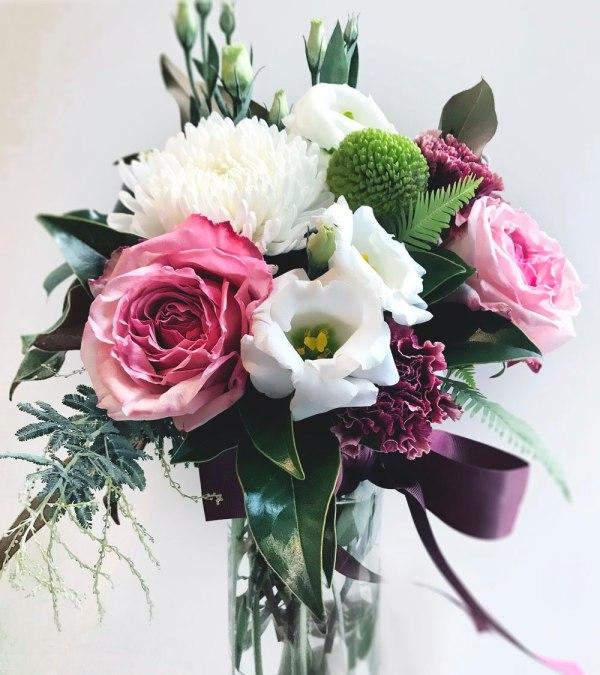 Flowers & Bouquets Berries & Cream Vase arrangement