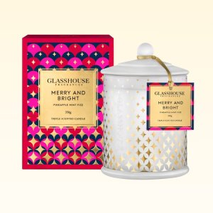Candles Merry and Bright 350g – Glasshouse Candle