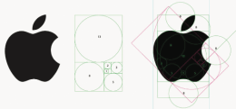 Apple et la construction de son logo avec le nombre d'or