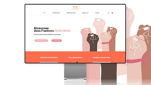 Réalisation site web association Mom Boss