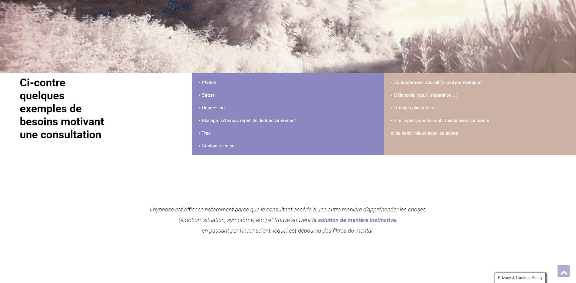 Création de site web de sophrologue à Marseille