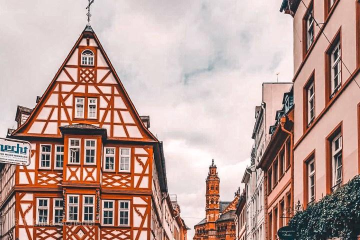Mainz half-timbered houses  Mainz Sehenswürdigkeiten  Mainzer Altstadt