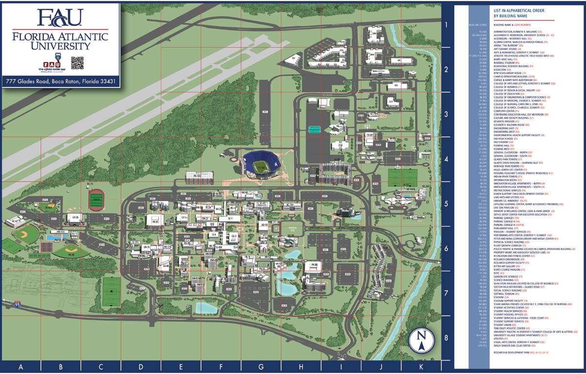 Boca Map Campus Fau Raton